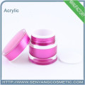 acrylic container cosmetic glass jar cosmetic