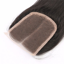 Straight Swiss lace closure silk top bleached knots for women women free part three part side part