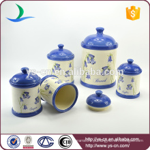 Fabricante de cerâmica de armazenamento jar conjunto de 5 Pcs