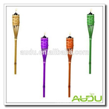 Audu Cheap Garden Torch Bamboo colorido / Tri Color Torch