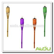 Audu Дешевый садовый цветной бамбуковый факел / трехцветный факел