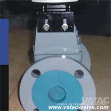 API 6D Flansch Typ 150lb / 300lb weiches Siegel ummanteltes Steckerventil