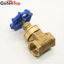 Válvulas de puerta de cobre amarillo del volante azul de Gutentop 200WOG 70B para el uso casero del agua