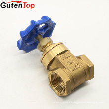 Gutentop 200WOG Blue Handwheel 70B Brass Gate Valves For Home Water Use