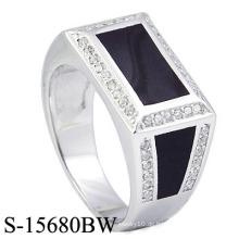 2016 Neue Modelle 925 Silber Herren Ringe mit gebackenem Emaille.