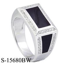 2016 Новые модели 925 Серебряные мужские кольца с запеченной эмалью.