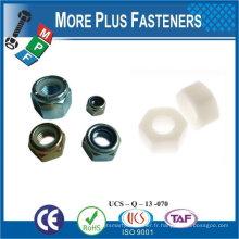 Fabriqué en Taiwan M10-1.5 DIN 985 Grade A4 en acier inoxydable Nylon Insert Lock Nut