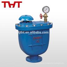 Válvula de liberação de ar combinada com flange de ferro fundido moldado com manómetro