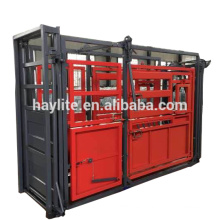 Cheap heavy duty cattle crush squeeze chute with weighing scale
