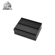 profilé de boîtier en aluminium anodisé noir pour l'électronique