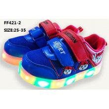 Crianças mais recentes boa salgada flash light LED sapatos sub plug-in luminosos sapatos de LED (ff421-2)
