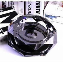 Presentes promocionais Best Quality Black Crystal Ashtray