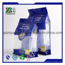 Flat Bottom Pet Food Plastic Bag with Top Resealable Zipper