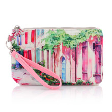 Lady Fashion Printed Baumwolle Canvas Toiletry Wash Kosmetiktasche (YKY7531-1)