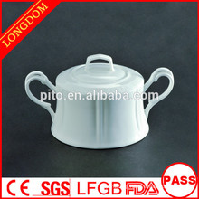 2015 New Design factory direct wholesale porcelain sugar pot sugar bowl