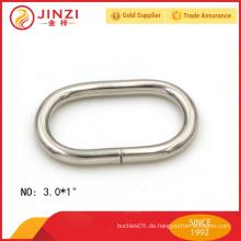 Außergewöhnliche Qualität 25mm breite ovale Ringe für Taschen