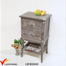 Table basse antique en bois marron Petite tablette en bois