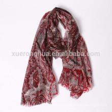 digital printed floral pattern cashmere scarf shawl