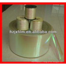 rainbow metallic yarn film