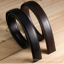 TOP quality genuine leather belt without buckle brown/black