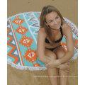 Hot sale custom bright pattern Round Beach Towel RBT-186