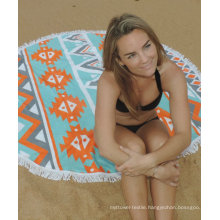 Hot sale custom bright pattern Round Beach Towel RBT-186