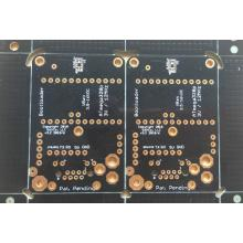 2 layer 1.6mm black solder ENIG touch sensor PCB