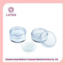 single clear eyeshadow case with clear lid