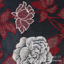Tissu teint par fil de Chenille de neige de fleur de Jacquard pour la maison