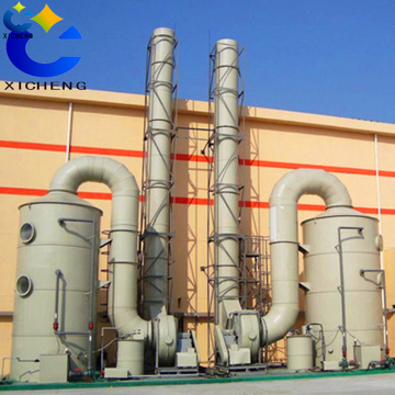 Exhaust gas air purification tower