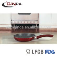 Frigideira de revestimento de mármore vermelho metallica com indução
