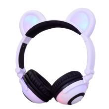 Glühender Panda Ear Bluetooth Kopfhörer mit Micro