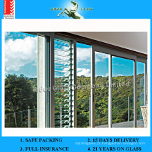 Vidro de 412 mm CE e ISO9001 Vidro de vidro e Louvre