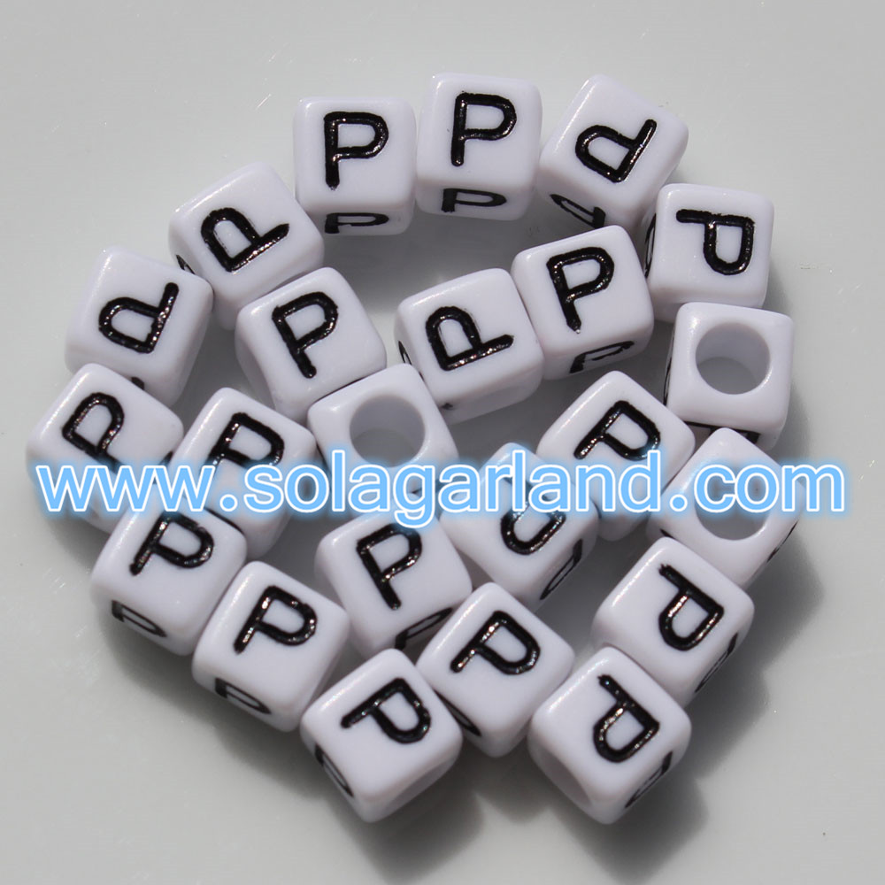 Individual Square Letter Beads