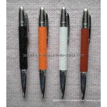 Pluma de cuero de metal como regalo de negocios (LT-C255)