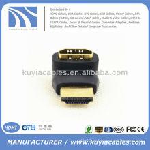 Mini HDMI de 90 grados al varón del conectador del adaptador de HDMI a la hembra