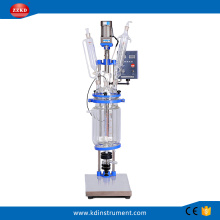 5L+Factory+Price+Fermentation+Jacketed+Glass+Reactor