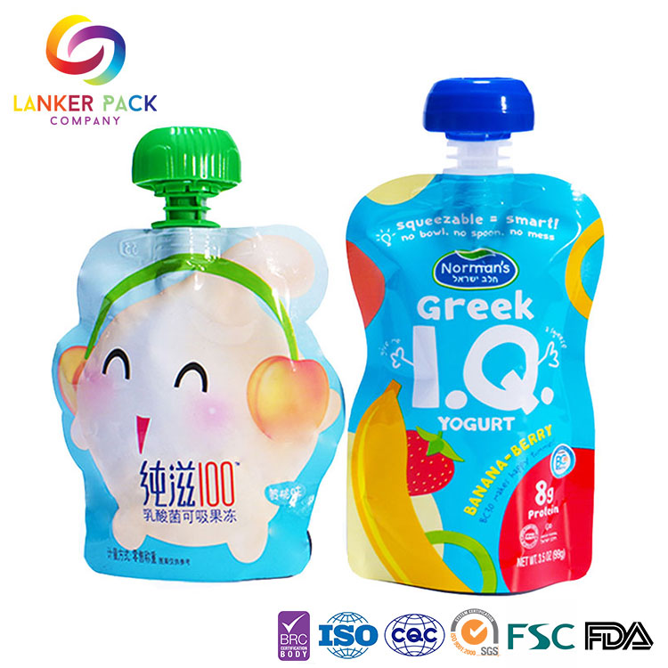 Standing Baby Food Pouch With Spout