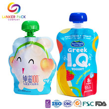 Food+Grade+Standing+Baby+Food+Pouch+With+Spout