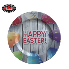 Easter Printing Plastic Charger Plate