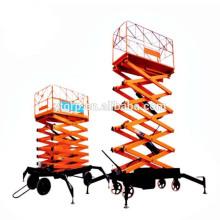 Tijeras hidráulicas eléctricas de la grúa de elevación