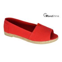Women′s Casual Espadrilles Open Toe Flat Shoes