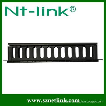 Регулируемая горизонтальная кабельная разводка на 19 дюймов 1U