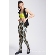 OEM Abstract Printed Leggings with High-Waist for Women