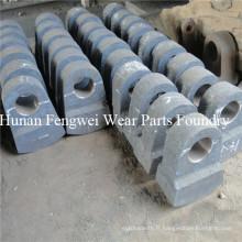 Plaque de martelage en fonte de qualité supérieure pour concasseur à marteaux