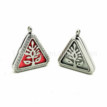 wholesales high polishing triangle shaped enamel funeral pendant free essential oil diffuser necklace just pay