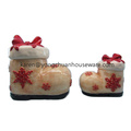 Hand Painted Christmas Ceramic Cookie Jar