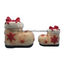 Ручная роспись рождественская керамическая банка печенья