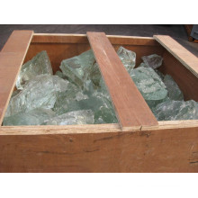 Green glass rock for outdoor and indoor decorative