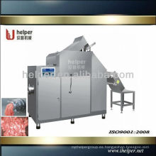Máquina cortadora y rectificadora de carne congelada